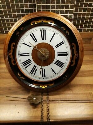 Antique black forest postmans alarm clock