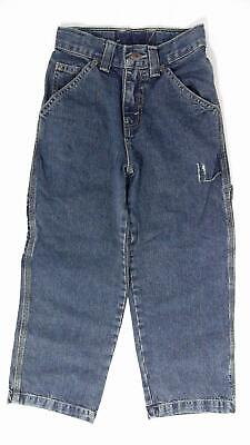 Arizona Boys size 8 Cotton Medium Wash 5-Pocket Carpenter Jeans Pant Blue Denim