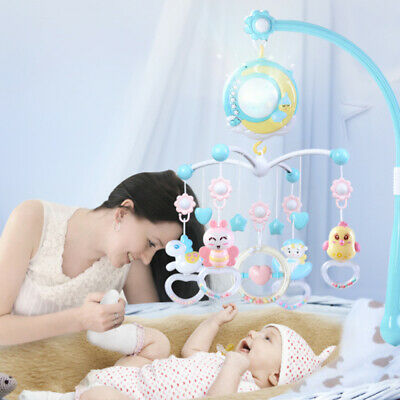 2020 Baby Musical Crib Bed Cot Mobile Stars Dreams Light Nusery Lullaby Toy Hot
