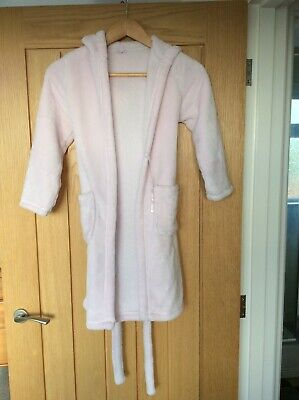 Girls Marks & Spencer Dressing Gown - Age 7-8 - Light pink - Used VGC