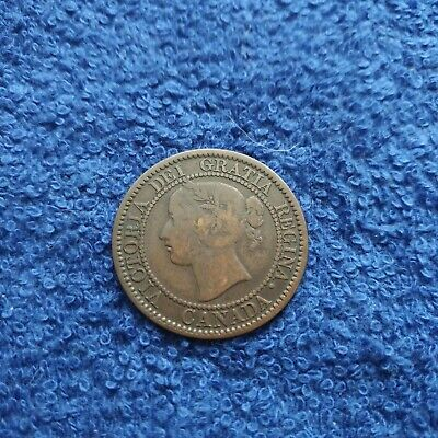 1859 Canadian Large One Cent copper coin