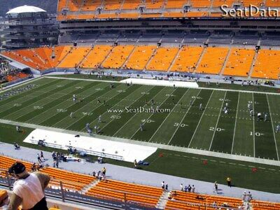 (8) Steelers vs Broncos Tickets Upper Level 20 Yard Line Under Cover Aisle Seats