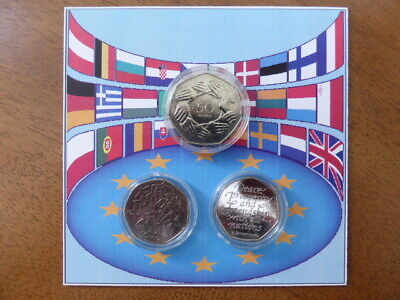 2020 Brexit 50p uncirculated Coin,1973 50p circulated coin & circulated 1998 50p