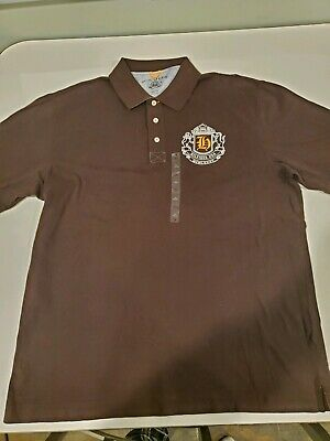 Mens Vintage 90's Tommy Hilfiger Polo Shirt Raised Lettering Logo Size Brown XL