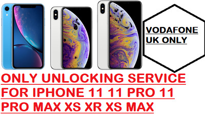 PREMIUM (Blacklisted supported) IPHONE XR XS MAX XS UNLOCKING VODAFONE UK