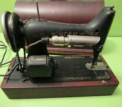 Antique Singer Sewing Machine 1931 #99 With Attachment's and Wood Case