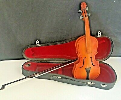 Antique Miniature Viola Salesman Sample Hand Carved Detailed Instrument
