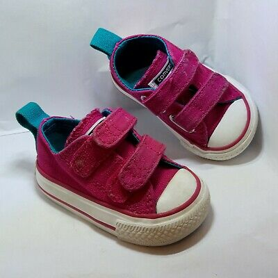 Girls Pink Converse All Star Shoes Pumps Size 2 Infant Baby