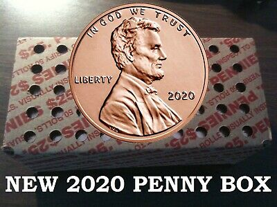 New Uncirculated 2019 P Shield Penny One Cent 50 Rolls 2500 bu pennies