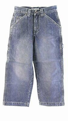 Arizona Boys size 8 Cotton Medium Wash Fade Carpenter Jeans Pant Blue Denim Kids