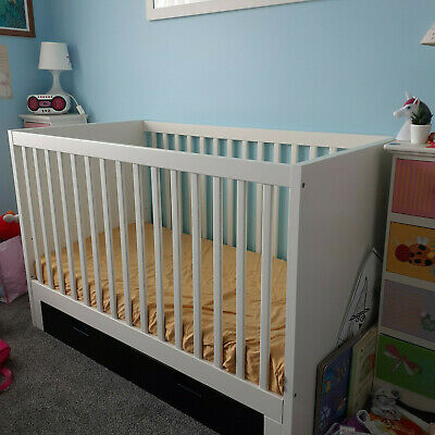 Baby Cot And Mattress With Storage Drawers
