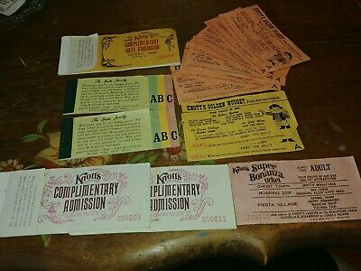 Lot Of Vintage Knotts Berry Farm Tickets