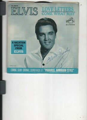 Elvis Presley Autograph On A Picture Sleeve With Record And Coa