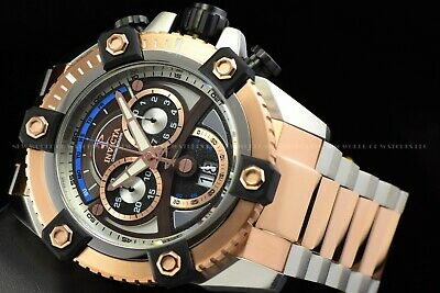 Invicta 63mm Reserve Grand Octane Arsenal Joker Dial Swiss 2Tone Rose Gold Watch