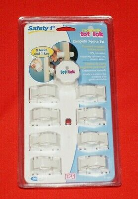 Safety 1st 9 Piece Magnetic Tot Lok Tot Lock Child Lock Set Brand New Sealed