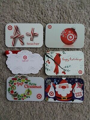 Lot of 6 TARGET 2007 CHRISTMAS Gift Cards  No Value Hard to Find card  UNUSED