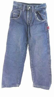 Lee Boys size 10S Cotton Medium Wash Contrast Stitch Straight Leg Jeans Pant