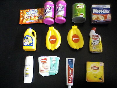 13 X Coles Little Shop mini collectables X 13 little shop miniature collectables