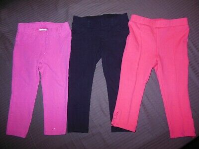 Lot of 3 Crown & Ivy-Jumping Beans- Cat&Jack Leggings/Jeggings Size 2T