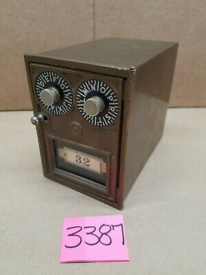 Post Office Box Door Bank Dual dial Brass Metal Storage Safety