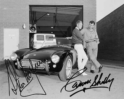 Steve McQueen and Carroll Shelby Reprint Signed 8x10 Photo G-303