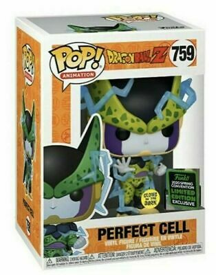 Funko Pop! Perfect Cell #759 GITD 2020 ECCC Shared Exclusive DBZ PREORDER