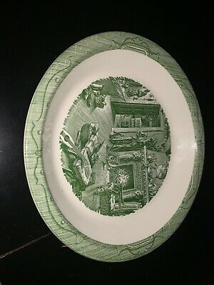 """RARE Royal China Dickens THE OLD CURIOSITY SHOP 10"""" Pie Plate Dish Excellent"""