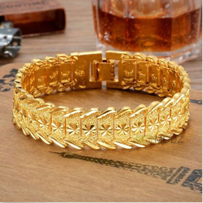 24K Gold Plated 6mm Solid Half Round Bangle Persian Coin Charm 2-3//4 Diameter