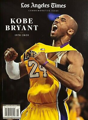 LA TIMES MAGAZINE TRIBUTE KOBE BRYANT 2020 life time NBA illustrated sports espn