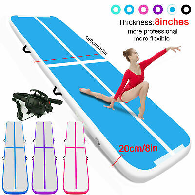 20cm Thick 3-12M Airtrack Inflatable Air Track Gymnastics Tumbling Mat Floor GYM