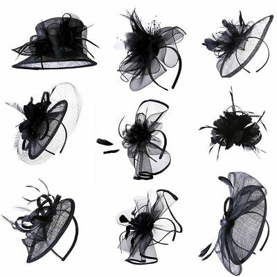 Elegant Ladies Large Headband Aliceband Hat Fascinator Weddings Race Royal Ascot