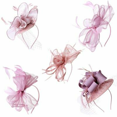 New Ladies Women's Sinamay Aliceband Flower Feather Headband Fascinator Hairband