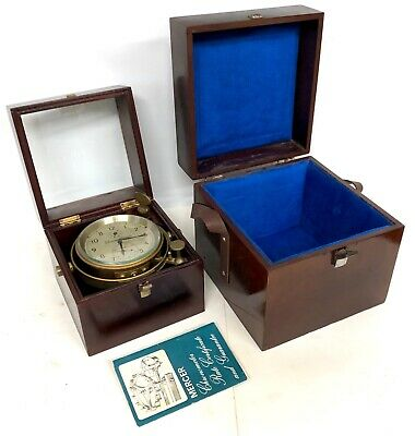 Thomas Mercer English Fusee Ships Chronometer With Two Boxes And Original Papers