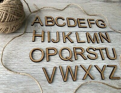 Wooden Letters 30-100mm Alphabet Wall Decor MDF Signs Ideal for Arts and Crafts,