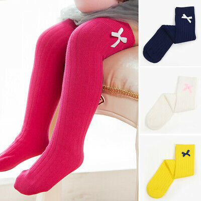 Sweet Sock Baby Girls Over Knee Bowknot Cotton Princess Leg Warmers Striped