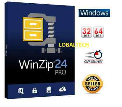 WinZip 24 PRO - LIFETIME - For One PC - for WINDOWS 32 bits / 64 Bits