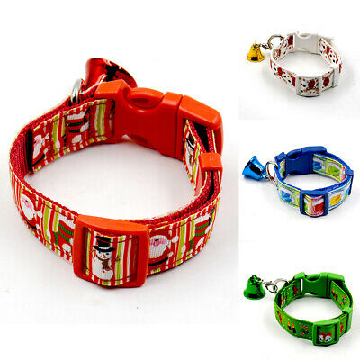 CHRISTMAS DOG COLLAR ADJUSTABLE NEW SMALL XMAS PUPPY Funky PET GIFT