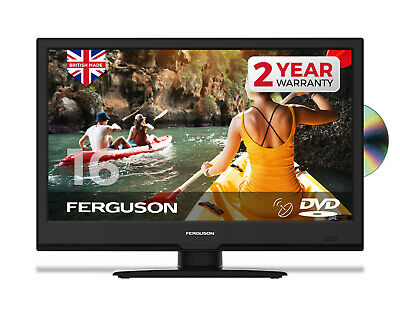 """Ferguson 16"""" Inch Full Hd Led Tv With Freeview Hd, Satellite & Dvd - New 2020"""