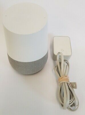 Google Home Smart Assistant Voice Activated Speaker- White