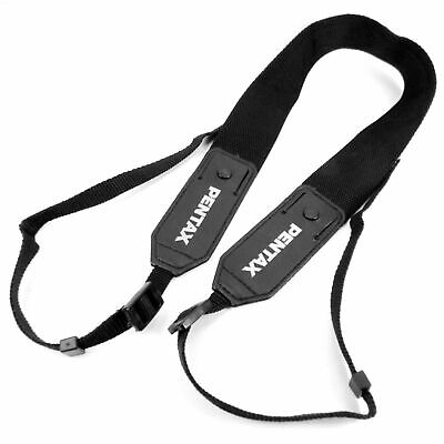 Original Pentax 35mm SLR Camera Carry Neck Shoulder Strap Black