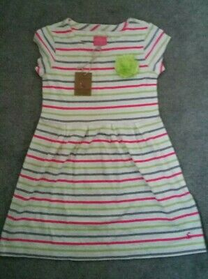 Girls Joules Dress Striped Age 7-8 Years: Brand New with Tags