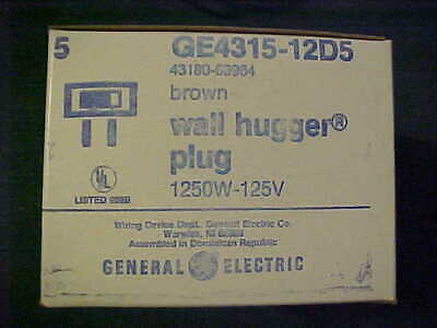 10 New Old Stock / NOS GE General Electric Brown Wall Hugger Lamp Plugs