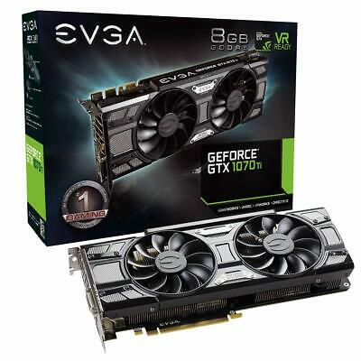 EVGA GeForce GTX 1070 Ti SC Gaming, 8GB GDDR5, DVI, HDMI, 3x DP (08G-P4-5671-KR)