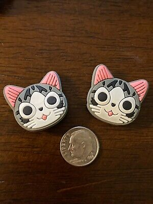 Cat Kitty Gray Calico Pet Charms For Jibbitz Bracelet Crocs Shoes Lot 2 Easter