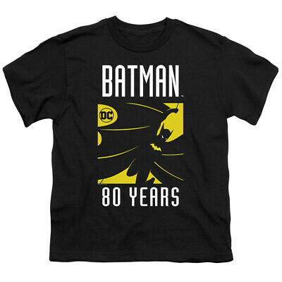 Batman Kids T-Shirt 80 Years Silhouette Black Tee