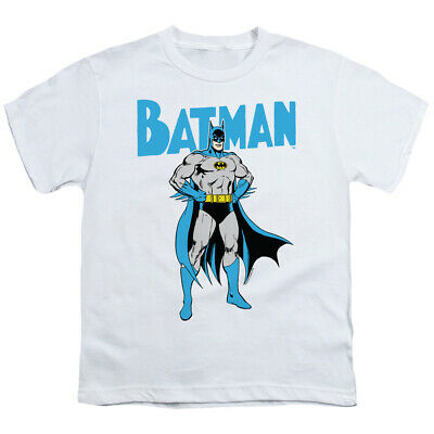 Batman Kids T-Shirt Pose White Tee
