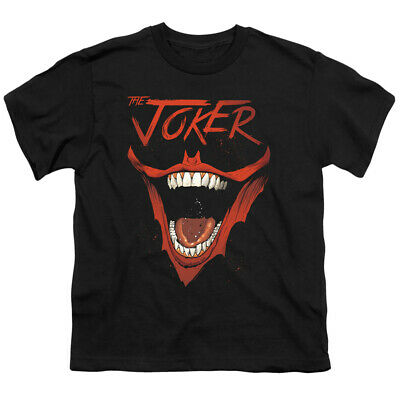 Batman Kids T-Shirt Joker Laugh Black Tee