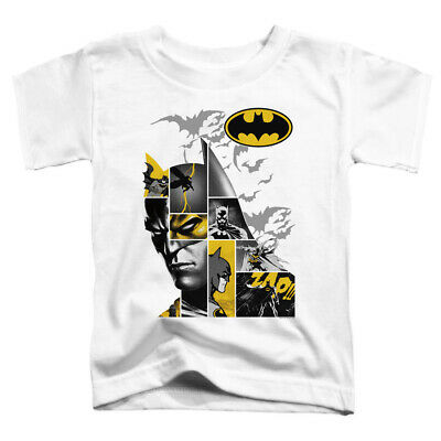 Batman Toddler T-Shirt Collage White Tee