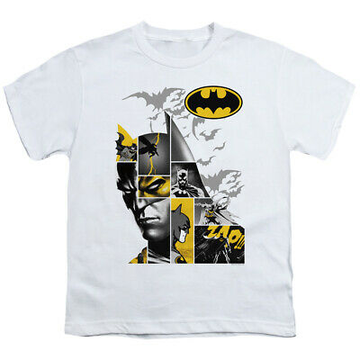 Batman Kids T-Shirt Collage White Tee