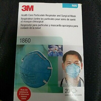 #10 3M N95 Health Care Respirator Surgical Mask (1860) Lot of 10 Masks